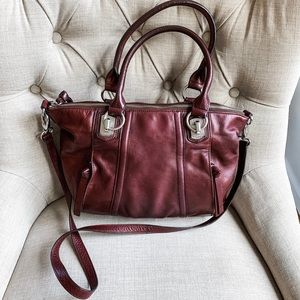 B makowsky leather crossbody bag